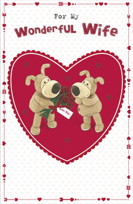 Boofle Wonderful Wife Valentine's Day Card