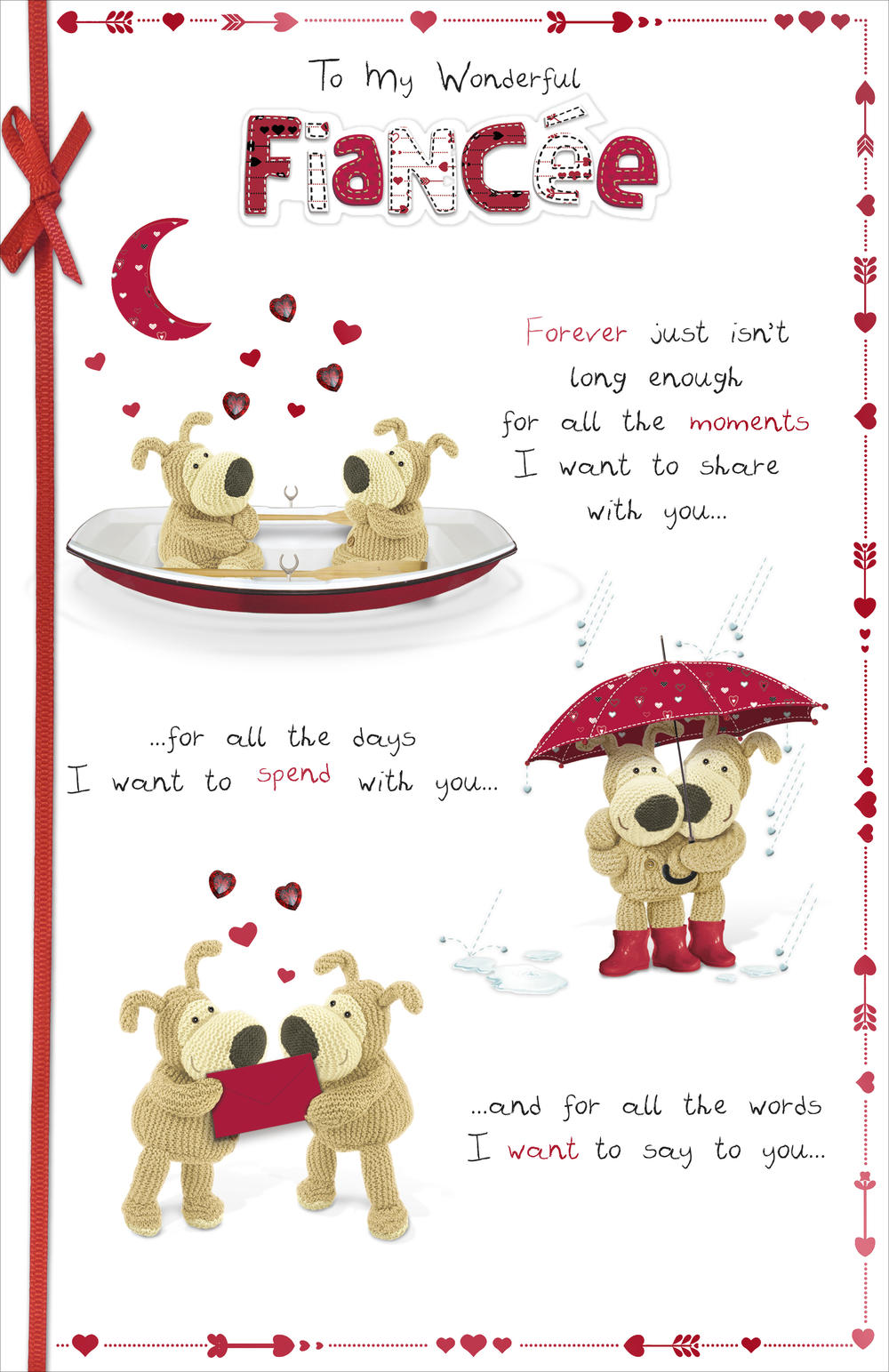 Boofle Wonderful Fiancee Valentine's Day Card