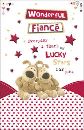 Boofle Wonderful Fiance Valentine's Day Card