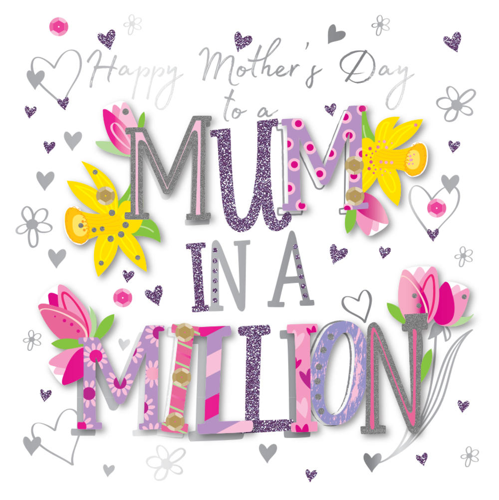 Mum In A Million Happy Mother's Day Card