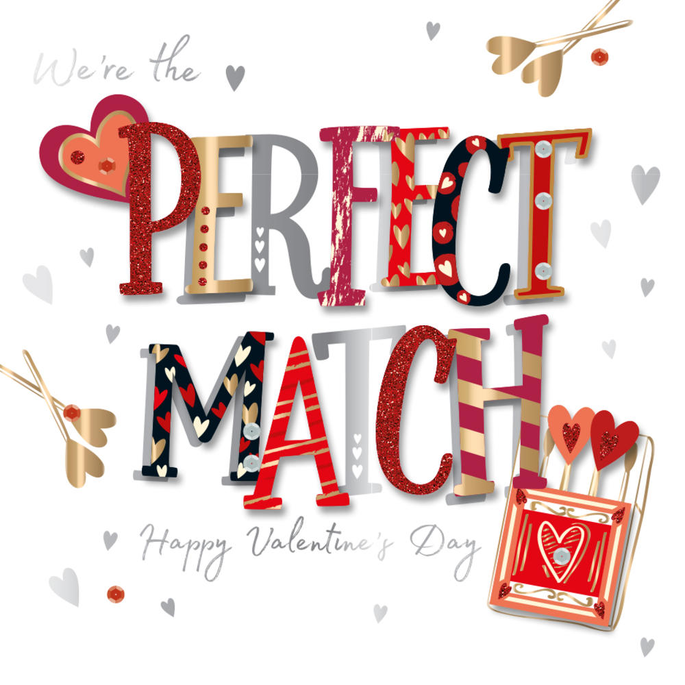 The Perfect Match Valentine's Day Greeting Card
