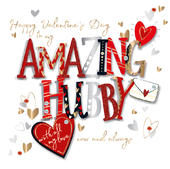 Amazing Hubby Happy Valentine's Day Greeting Card