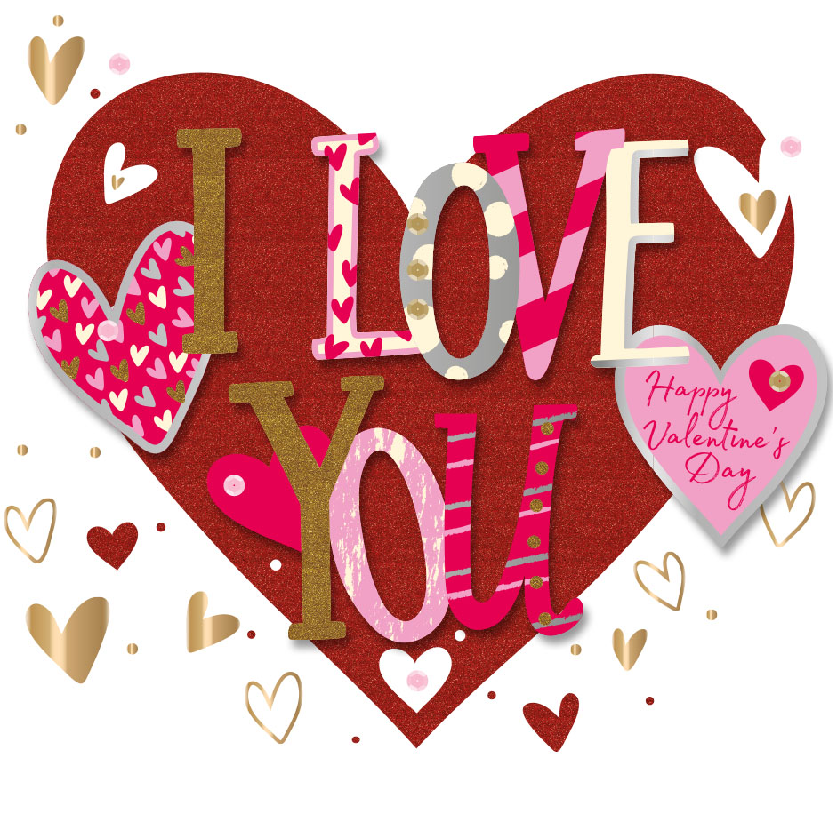 I Love You Happy Valentines Day Greeting Card Cards Love Kates