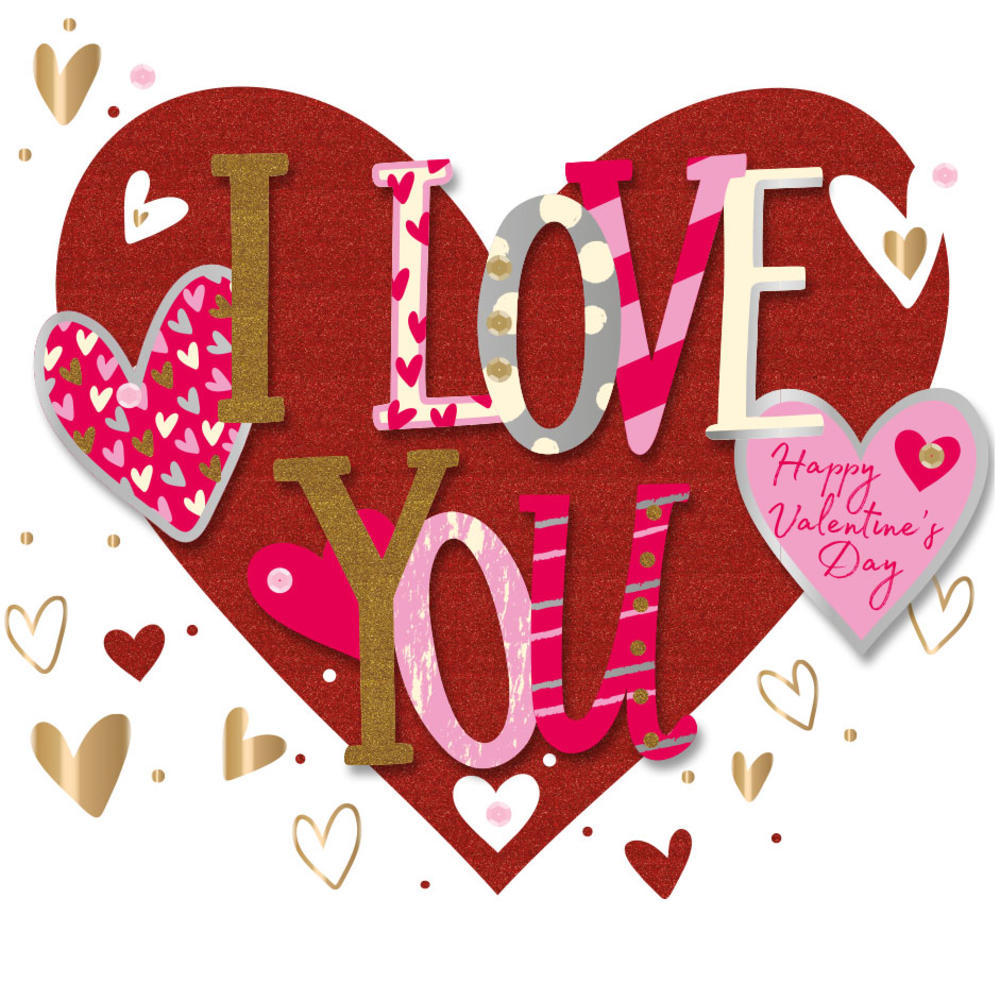 i love you happy valentine's day greeting card  cards