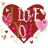 I Love You Happy Valentine's Day Greeting Card