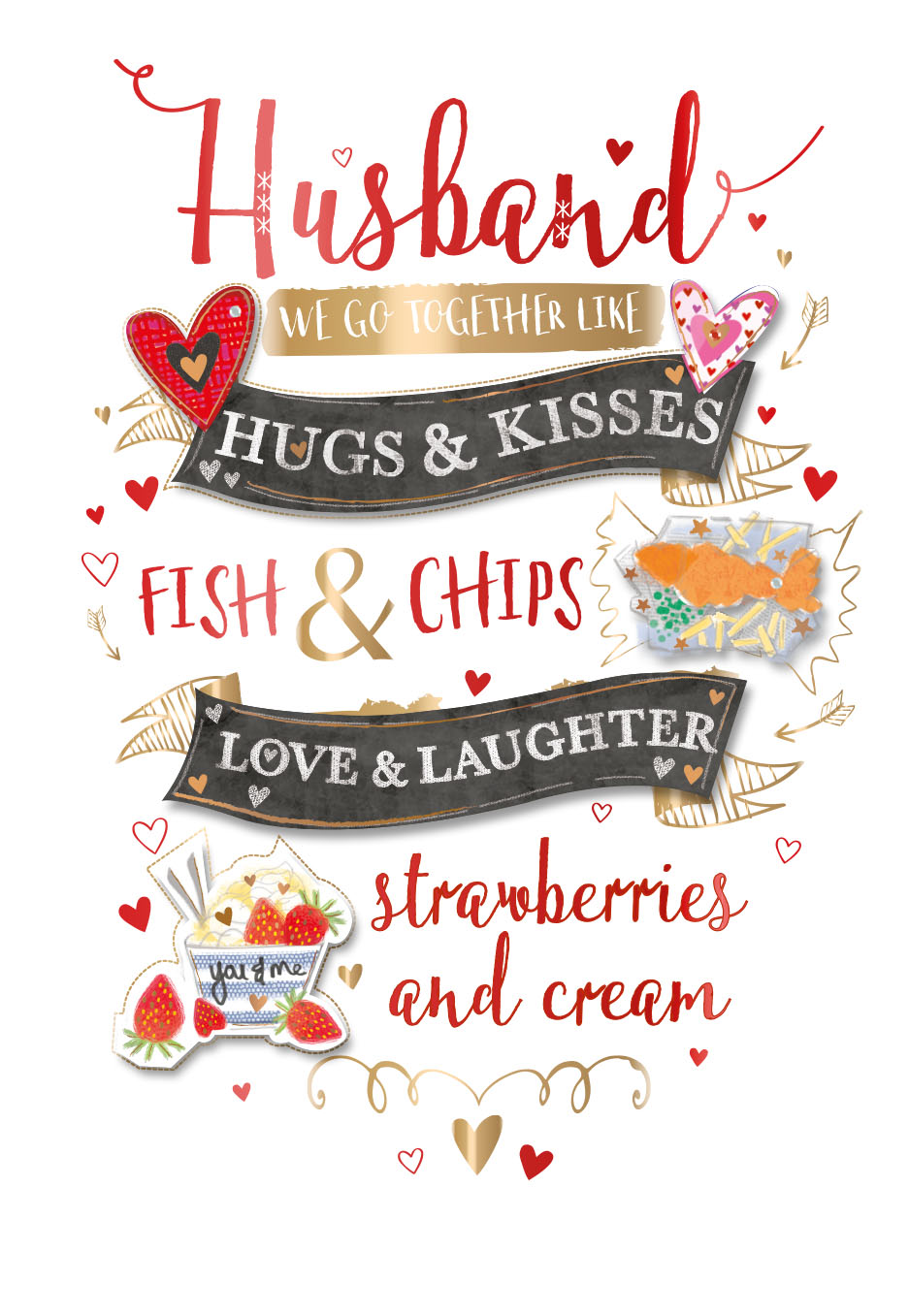 Husband Happy Valentines Day Greeting Card Cards Love Kates