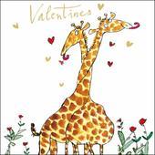 Quentin Blake Valentine's Day Giraffe Greeting Card