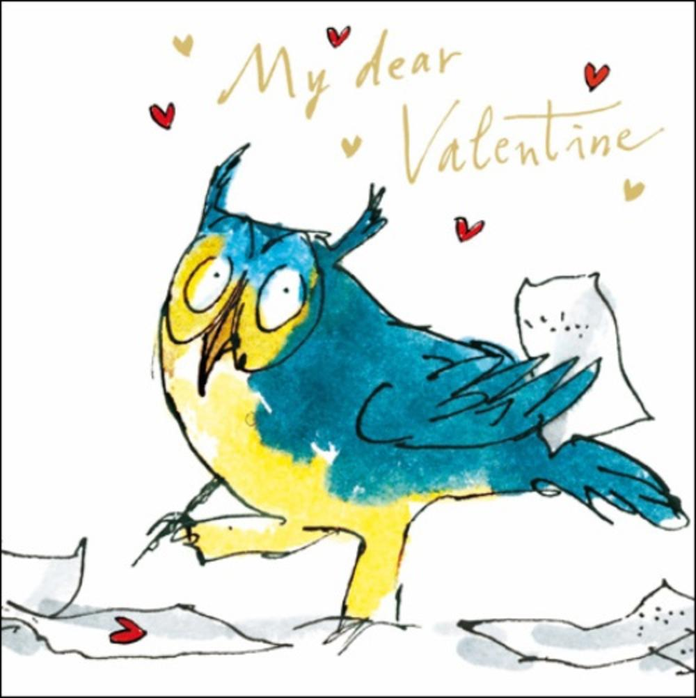 Quentin Blake Valentine's Day Owl Greeting Card
