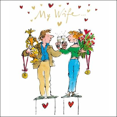Quentin Blake Wife Valentine's Day Greeting Card