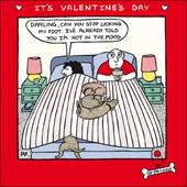 Off The Leash Funny Valentines Day Greeting Card