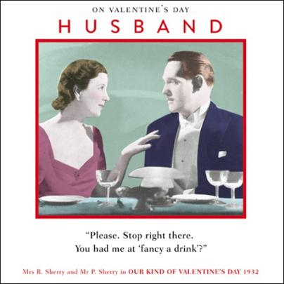 Husband Funny Valentines Day Greeting Card