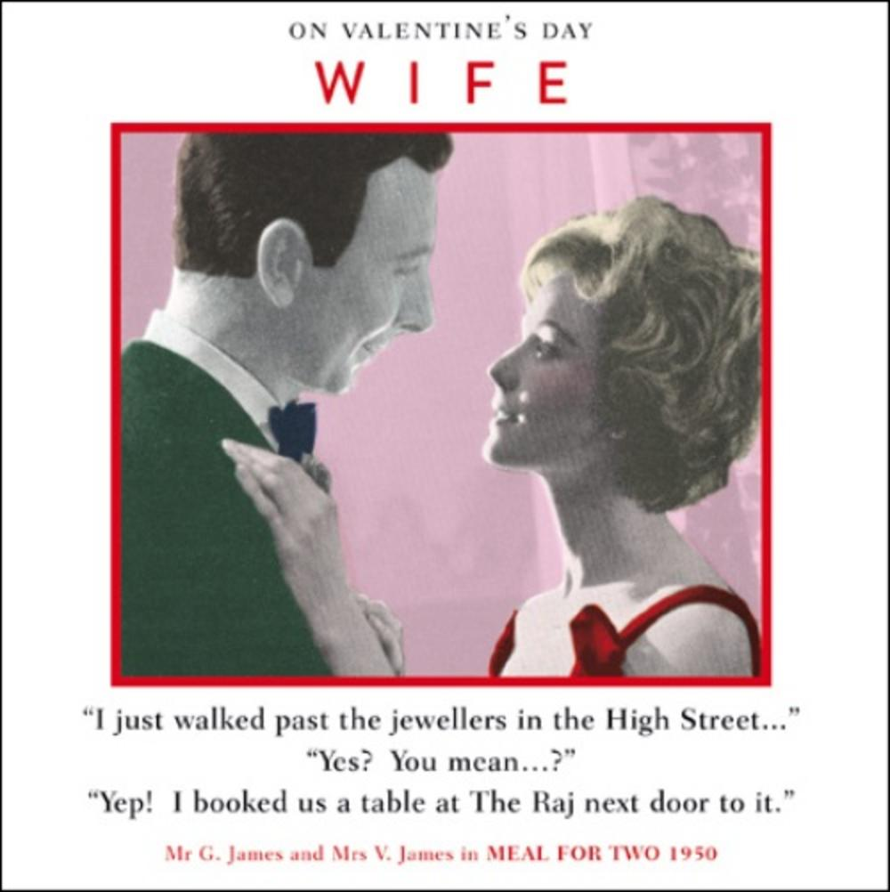 Wife Funny Valentines Day Greeting Card