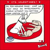 Off The Leash Funny 'Lipstick' Valentines Day Greeting Card
