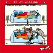 Off The Leash Husband Funny Valentines Day Greeting Card