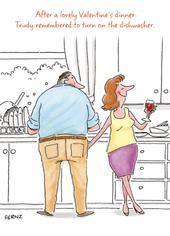 Fernz Funny Turn On Dishwasher Valentine's Day Humour Greeting Card