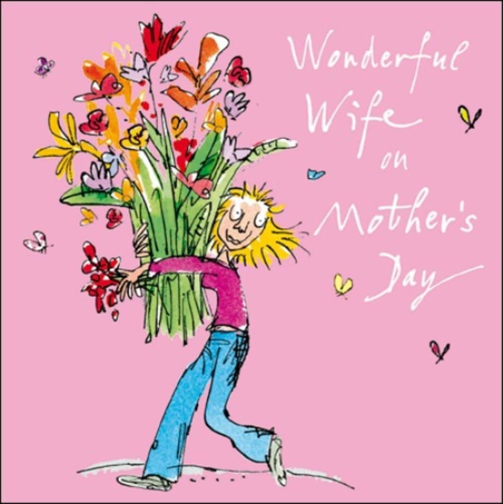 Quentin Blake Wife Mother's Day Greeting Card