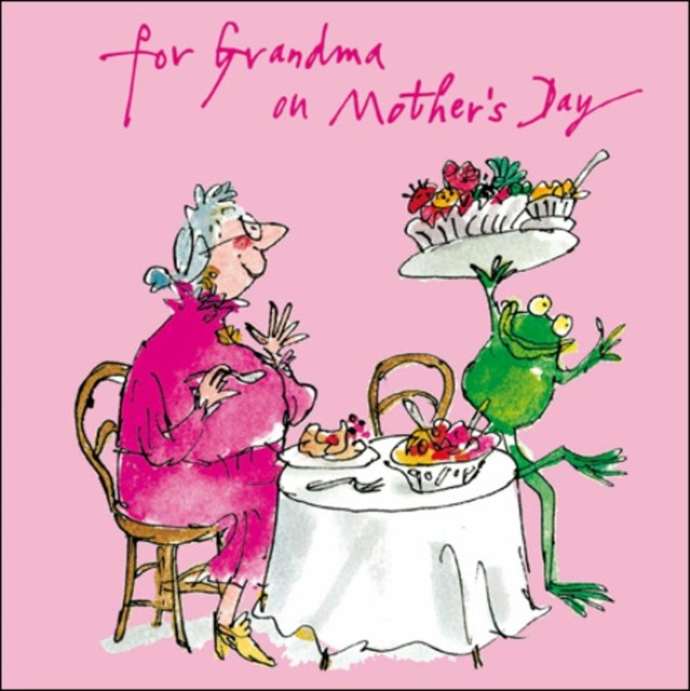 Quentin Blake Grandma Mother's Day Greeting Card
