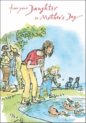Quentin Blake Mummy From Daughter Mother's Day Greeting Card
