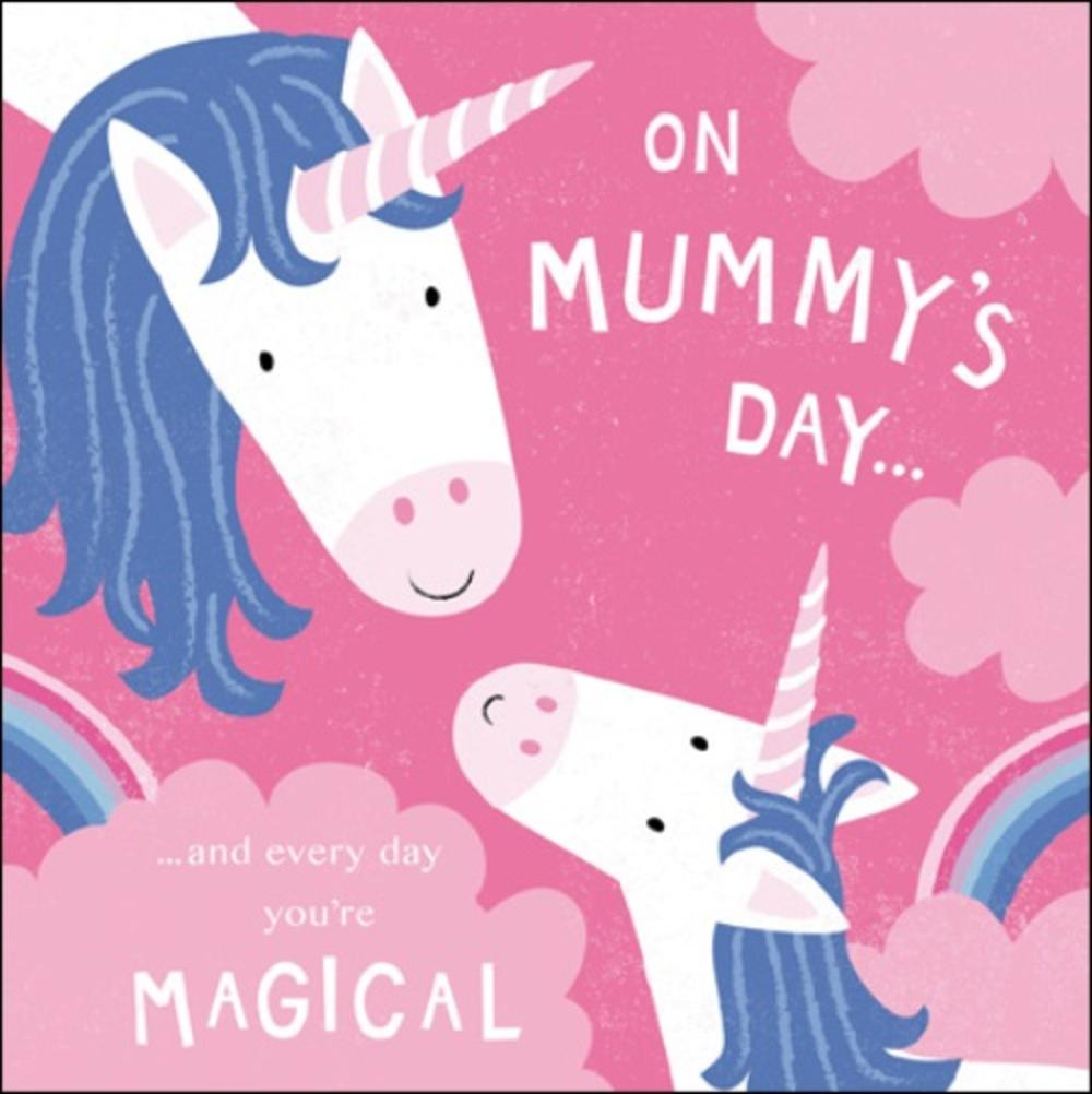 Unicorn On Mummy's Day Happy Mother's Day Greeting Card