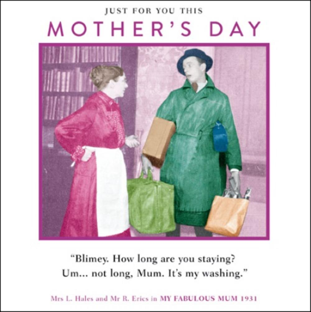 Funny Son & Washing Mother's Day Greeting Card