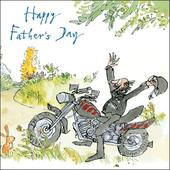 Quentin Blake Biker Happy Father's Day Greeting Card