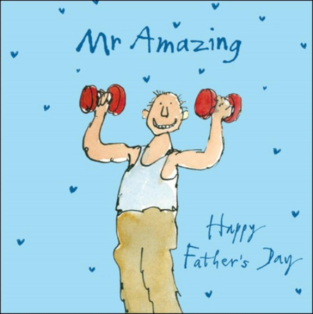 Quentin Blake Mr Amazing Happy Father's Day Greeting Card