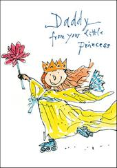 Quentin Blake Daddy From Princess Happy Father's Day Greeting Card