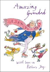 Quentin Blake Amazing Grandad Happy Father's Day Greeting Card