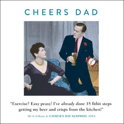 Funny Drama Queen Cheers Dad Father's Day Greeting Card