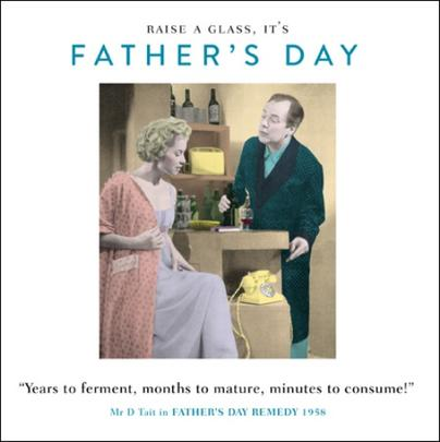 Funny Drama Queen Raise A Glass Father's Day Greeting Card