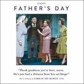 Funny Drama Queen Box Set Binge Father's Day Greeting Card