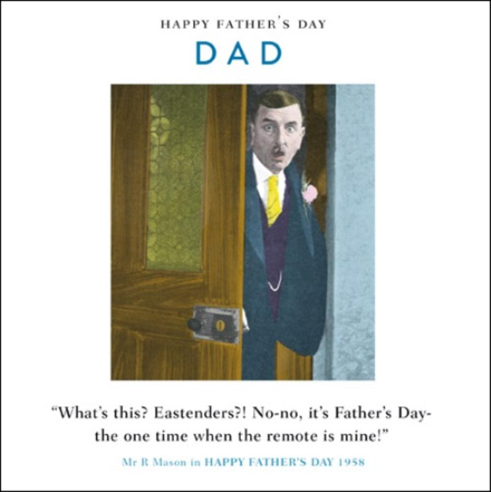 Funny Drama Queen Remote Control Father's Day Greeting Card