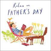 Dad & Dog Relax On Father's Day Greeting Card