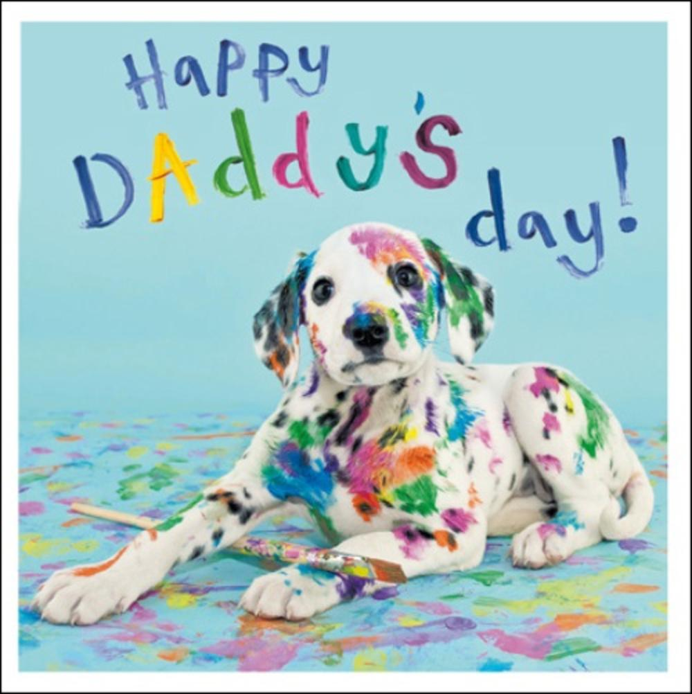 Dalmation Happy Daddy's Day Father's Day Greeting Card