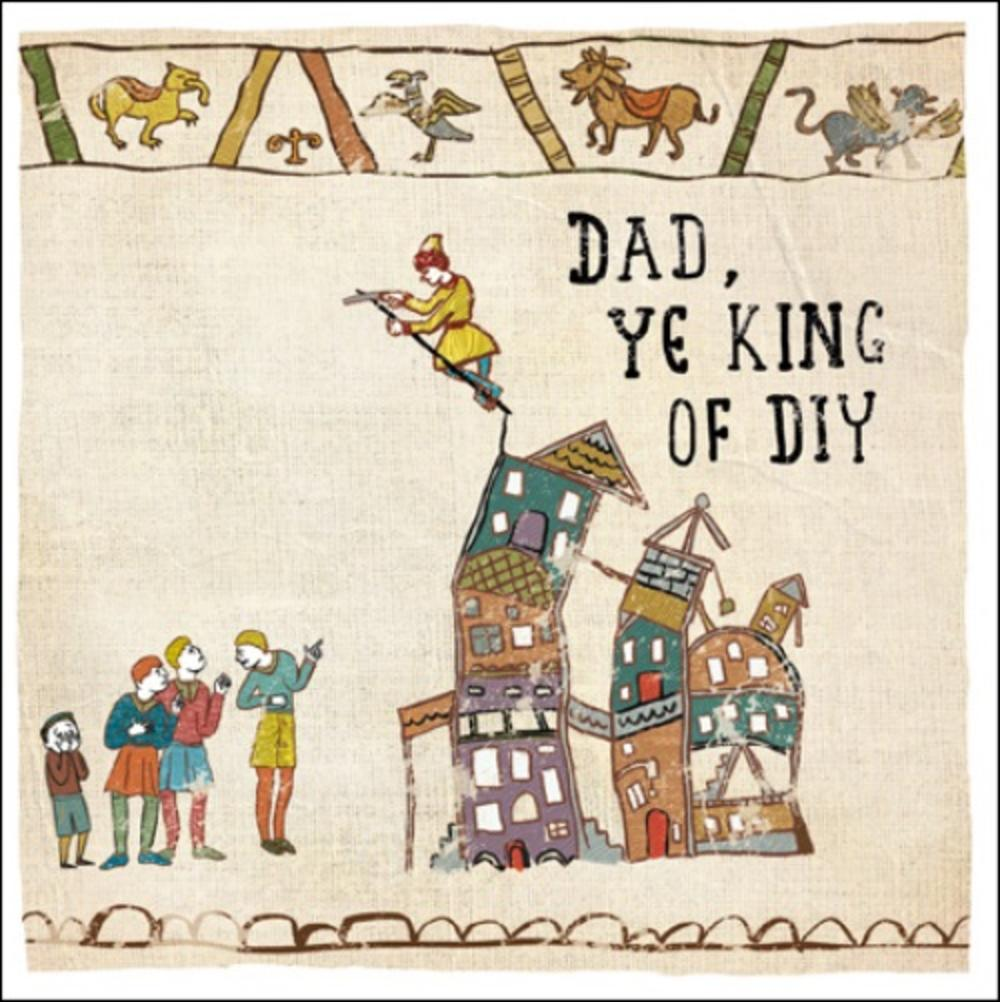 Hysterical Heritage King Of DIY Father's Day Greeting Card