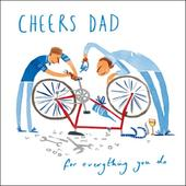 Cheers Dad For Everything Happy Father's Day Greeting Card