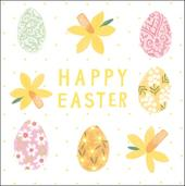 Pack of 5 Pretty Happy Easter Greeting Cards