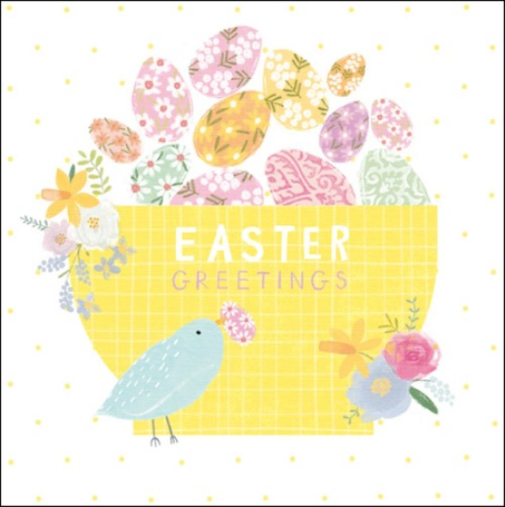 Pack of 5 Pretty Easter Greetings Greeting Cards