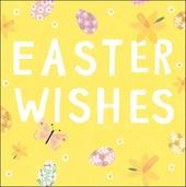 Pack of 5 Pretty Easter Wishes Greeting Cards