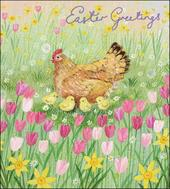 Pack of 5 Mother Hen Happy Easter Greetings Cards