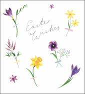 Pack of 5 Spring Blossom Easter Wishes Greetings Cards