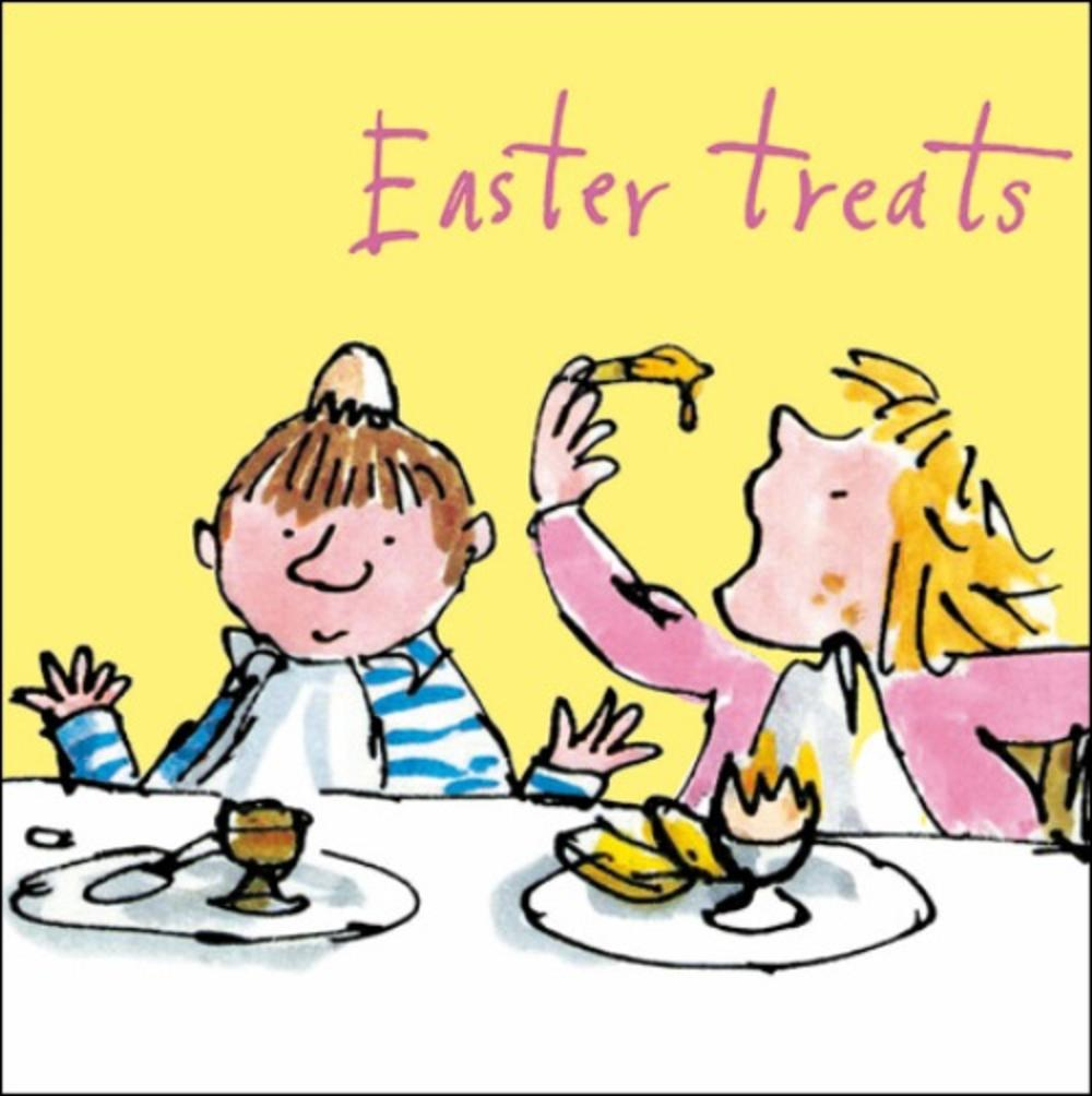 Quentin Blake Easter Treats Single Mini Happy Easter Greeting Card