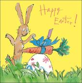 Quentin Blake Easter Bunny Single Mini Happy Easter Greeting Card