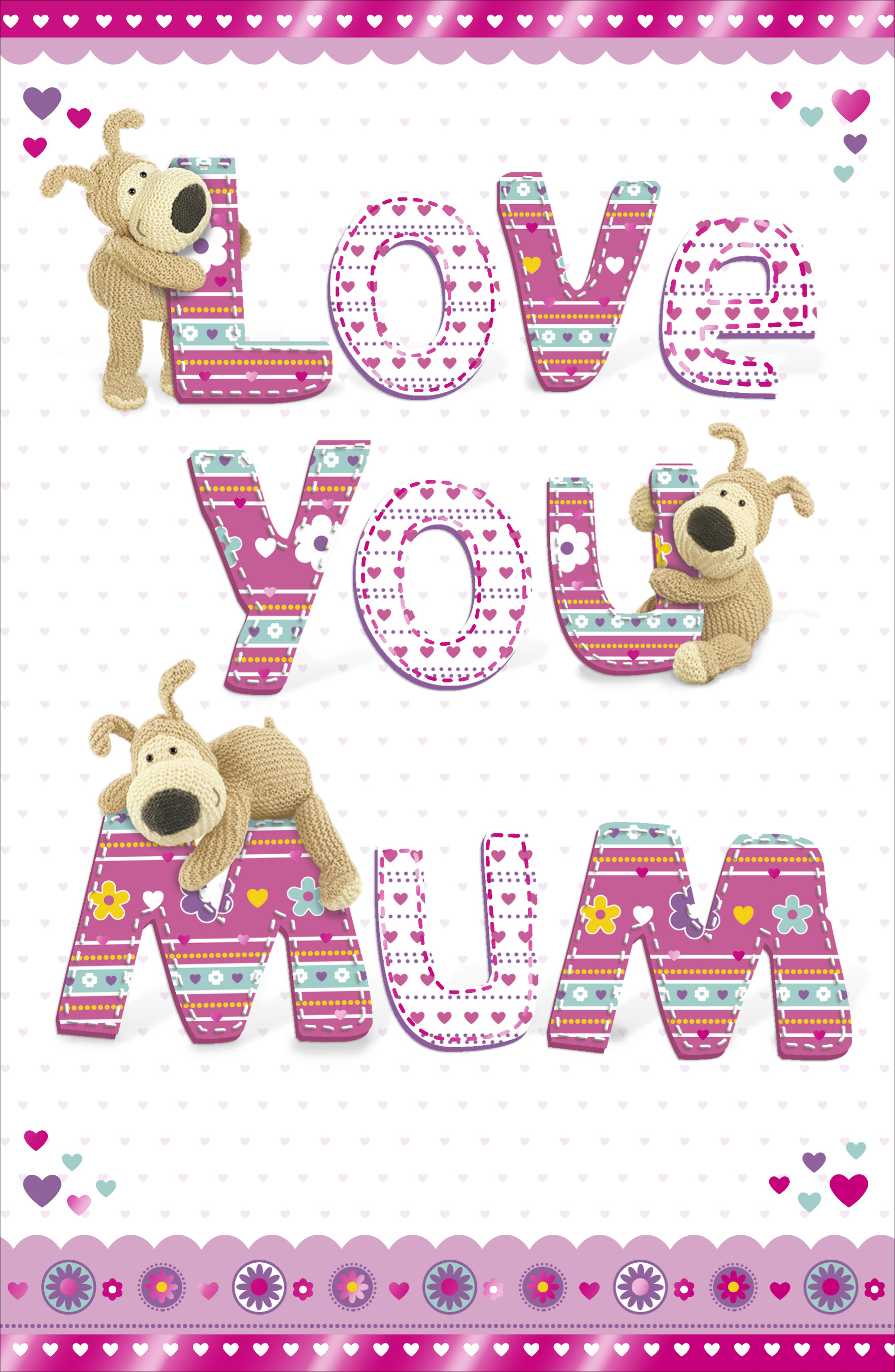 Sentinel Boofle Love You Mum Happy Mother's Day Card Cute Range Greeting Cards