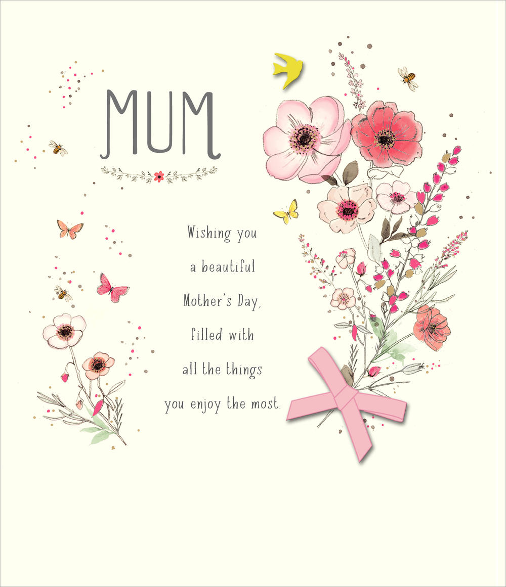 Beautiful Mum Embellished Mother's Day Card