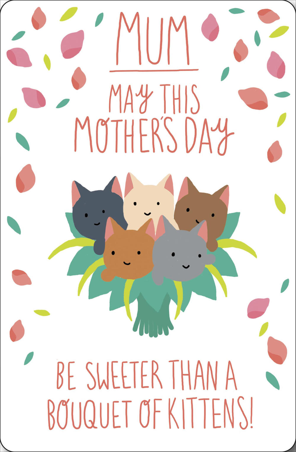 Bouquet Of Kittens Happy Mother's Day Card