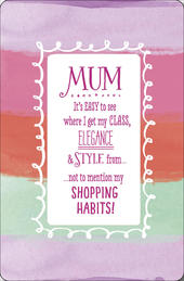 Mum Shopping Habits Happy Mother's Day Card