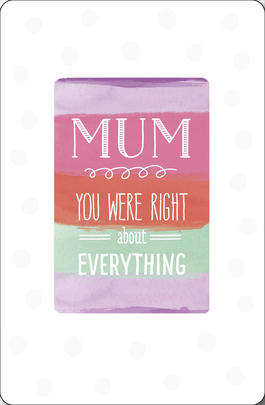 You Were Right About Everything Mother's Day Card