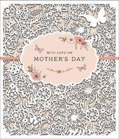 With Love On Mother's Day Die Cut Card