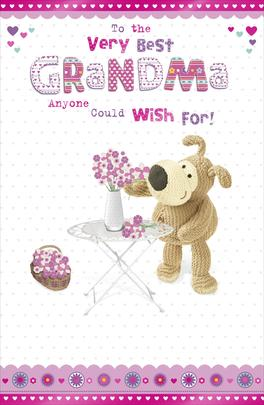 Boofle Best Grandma Happy Mother's Day Card